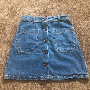 Zara High Waisted Denim Skirt